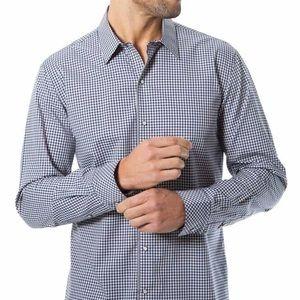 7 Diamonds Gingham Plaid Dress Shirt Mens XL